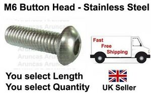 M6-6mm-Stainless-Button-Head-M6-m6-button-bolts-Any-Length-Qty