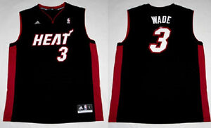 REVOLUTION 30 MIAMI HEAT D WADE #3 BLACK JERSEY SIZE MEDIUM