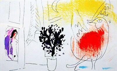 Marc Chagall  - Lassaigne - Red Rooster (M.203) - Original Mourlot Lithograph