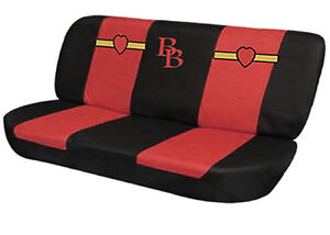 black and red betty boop matching bb bench seat cover for cars truks vans suvs ebay. Black Bedroom Furniture Sets. Home Design Ideas