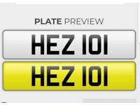 Personalised Cherished Number Plate Heather HEZ 101 Any age