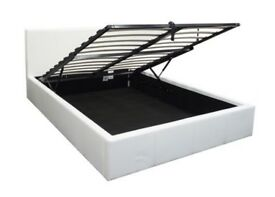 STORAGE LEATHER BED WITH SAME DAY DELIVERY
