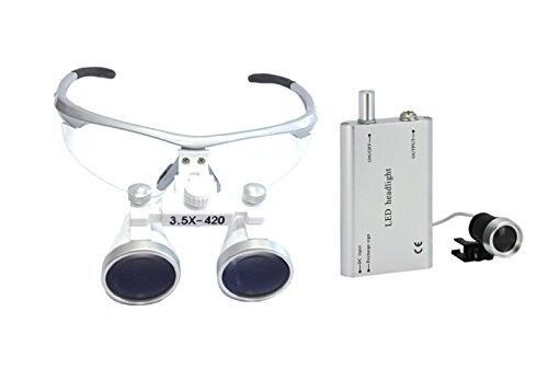 Dental loupes with LED light for sale