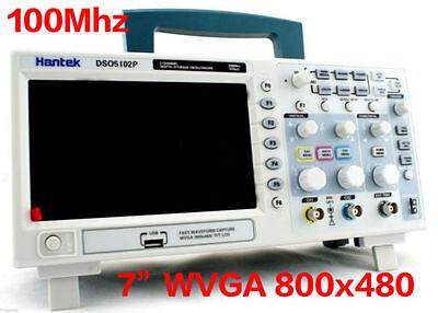 Us Local Ship Dso5102p Hantek Digital Oscilloscope 100mhz 2ch 7 Wvga Ups Free