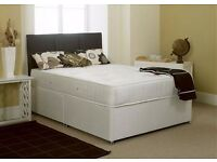 BRAND NEW DOUBLE DIVAN BED WITH MATTRESS £89 - FREE DELIVERY BASE ONLY £49