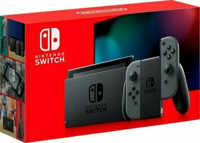 BRAND NEW SEALED Nintendo Switch 32GB Gray Console with Gray Joy-Con (LATEST)