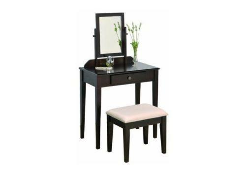 Glass makeup vanity ebay for Glass makeup table