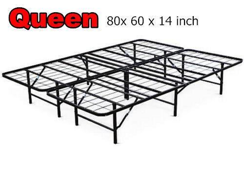 Queen Size Folding Platform Metal Bed Frame Mattress