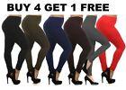 Fleece Solid Plus Size Leggings for Women