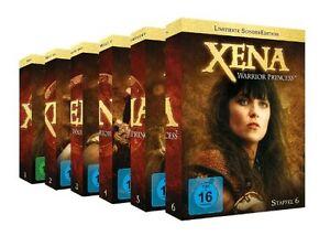 37 DVDs * XENA : WARRIOR PRINCESS STAFFEL 1 - 6 IM SET - Lucy Lawless  # NEU OVP