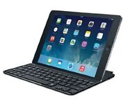 Logitech Ultrathin Keyboard Cover for iPad Air - Black, UK Qwerty Layout