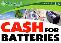 Cash For Batteries FREE Scrap Removal