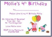 George Pig Invitations
