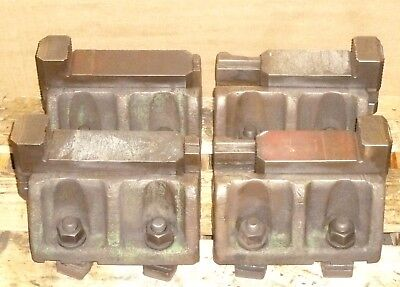 Set Of 4 Cushman Usa 10 Boring Mill Jaws For Double Parallel Slot Tables