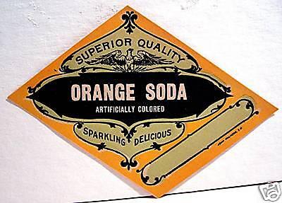 Orange Soda Label - Vintage Superior Quality Orange Soda Label