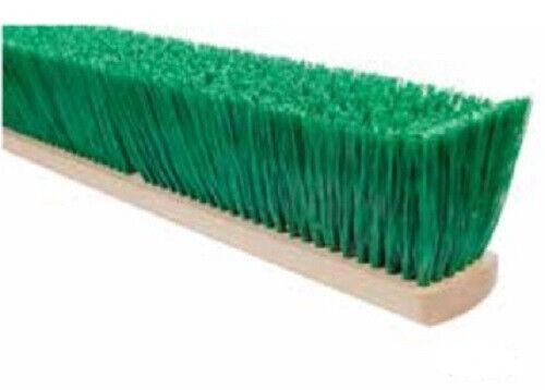 """Magnolia Brush #5518 18"""" Stiff Green Polypropylene Garage Brush Push Broom Head"""