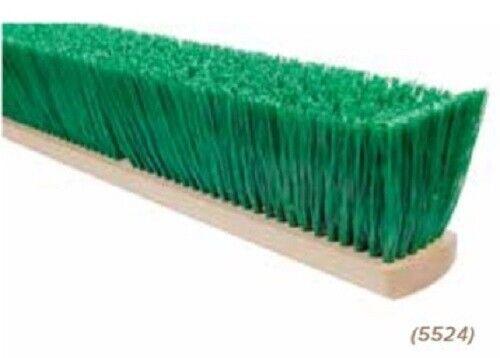 """Magnolia Brush #5524 24"""" Stiff Green Polypropylene Garage Brush Push Broom Head"""