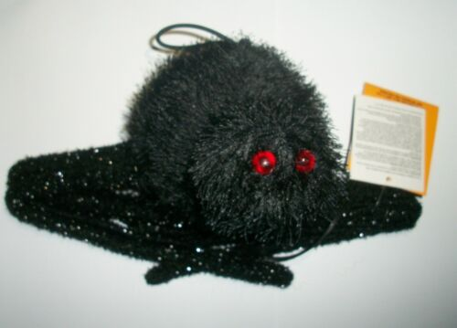 Halloween Large Shaking Lighted Black Spider Prop with Sound