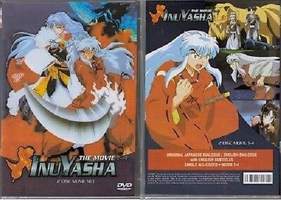 Inuyasha The Movie Collection Movie 1 2 3 4  DVD ~ New