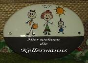 Türschild Keramik Familie