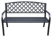 Iron Patio Bench