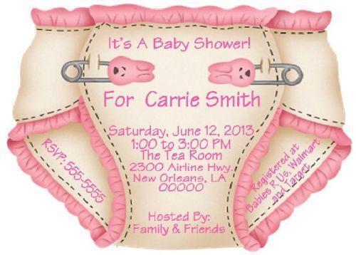 Diaper Shower Invitations | eBay