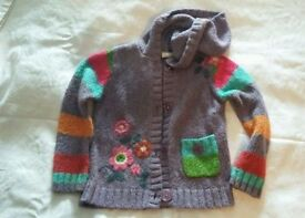 GIRLS NEXT CHUNKY KNIT CARDIGAN - 3-4yrs