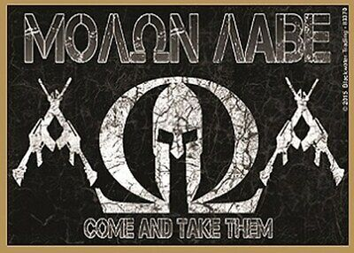 Molon Labe Come And Take Them Support Guns Wood Fridge Magnet 2.5X3.5 NEW A34