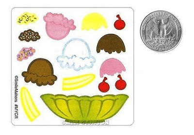 15 Make A Ice Cream Sundae Stickers Kid Birthday Party Goody Bag Filler Favor  ()