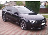 AUDI A3 2.0 TDI QUATTRO S LINE BLACK EDITION 170BHP LEATHER BOSE AUX BLINDS 4X4 4WD VW SEAT SKODA RS