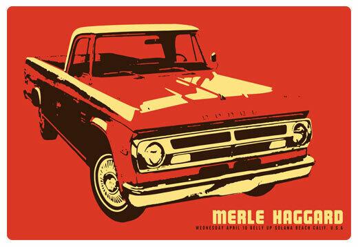 Scrojo Merle Haggard 2013 Poster Belly Up Tavern Solana Beach Merle_1304