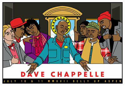 Scrojo Dave Chappelle 2017 Belly Up Aspen Colorado Comedy Poster Chappelle_1707