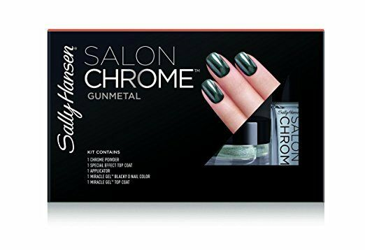 New Sally Hansen Lim Ed Salon Chrome 5PC Kit Miracle Gel Nai