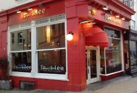 Kitchen porter for Thai Restaurant in Brighton - immediate start