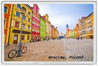 WROCLAW - JUMBO FRIDGE MAGNET - POLAND POLSKA POLISH WARSAW GDANSK KRAKOW