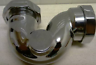 BATH TRAP CHROME TRADITIONAL LOW LEVEL BRASS METAL TYPE 40MM 11/2 WASTE PIPE NEW