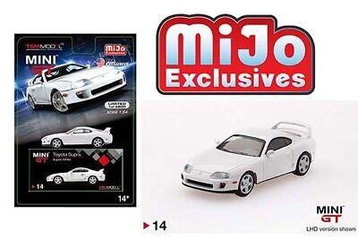 MINI GT 1/64 Toyota Supra ( JZA80) White Left hand Drive Diecast Car MGT00014 Hand Drive Car