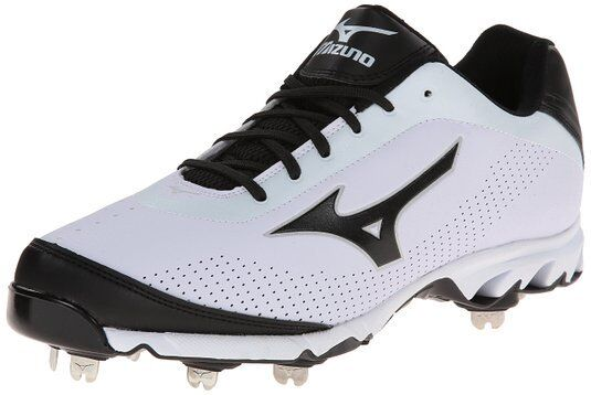Mizuno 9 Spike Vapor Elite 7 Low Metal Baseball Cleats NEW White/Black 320443