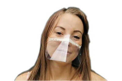 Gesichtsmaske Mund Nasen Visier Transparent Gesichtsschutz Gesichtsvisier DE