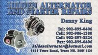 HILDEN ALTERNATOR AND STARTER REPAIRS!!!!