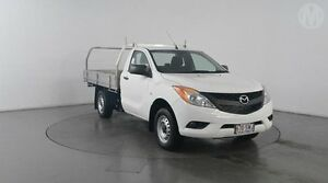 2013 Mazda BT-50 XT (4x2) Cool White 6 Speed Manual Cab Chassis Eagle Farm Brisbane North East Preview