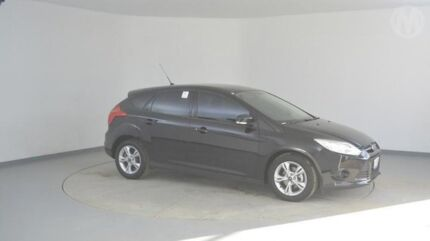 2014 Ford Focus LW MKII Trend PwrShift Panther Black 6 Speed Sports Automatic Dual Clutch Hatchback Wingfield Port Adelaide Area Preview