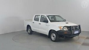 2008 Toyota Hilux KUN16R 07 Upgrade SR Glacier White 5 Speed Manual Dual Cab Pick-up Perth Airport Belmont Area Preview