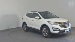 2014 Hyundai Santa Fe DM Highlander CRDi (4x4) Creamy White 6 Speed Automatic Wagon