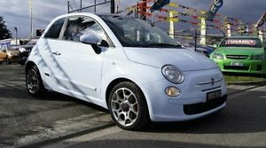 2008 Fiat 500 Sport Blue 6 Speed Manual Hatchback Brooklyn Brimbank Area Preview
