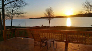 Weekly Beachfront Cottage Rental on Grand Lake in Whites Cove