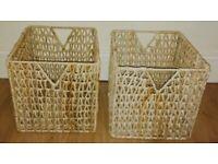 2 rattan storage / baskets
