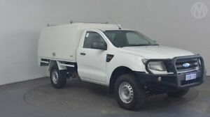 2012 Ford Ranger PX XL 4x2 Cool White 6 Speed Manual Cab Chassis Perth Airport Belmont Area Preview