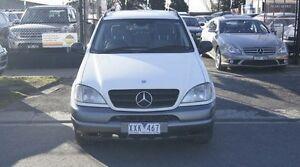 2001 Mercedes-Benz ML W163 270 CDI (4x4) White 5 Speed Auto Tipshift Wagon Brooklyn Brimbank Area Preview