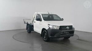 2016 Toyota Hilux TGN121R Workmate Glacier White 5 Speed Manual Cab Chassis Eagle Farm Brisbane North East Preview